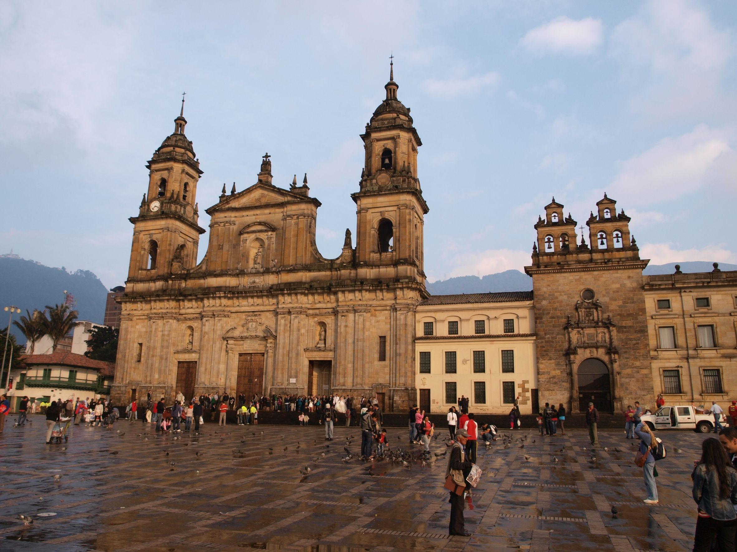 Beautiful main square in Bogota